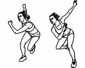 Ice skaters exercise
