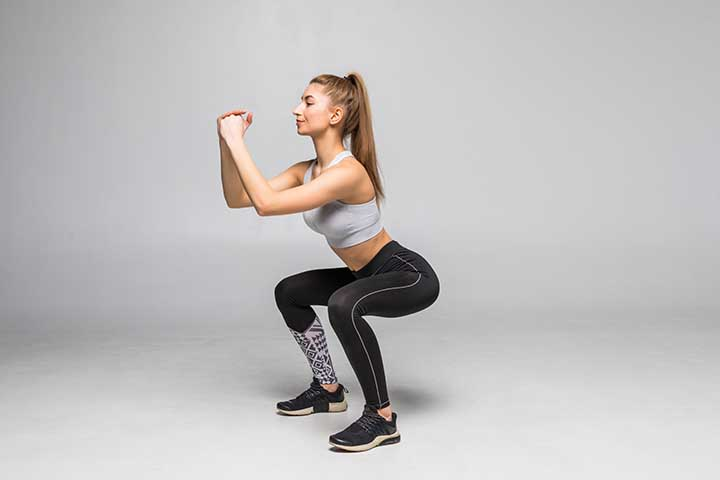 Squats - Best exercise to reduce the hip dips