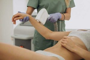 in larger area laser hair removal session can take hours