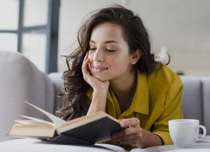 Reading books help to mentally glow up